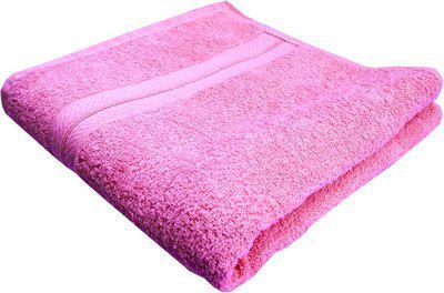 K.S. Collection Cotton 350 GSM Bath Towel(Pink)