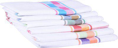 JISB Cotton 175 GSM Bath Towel Set(Pack of 6, Multicolor)