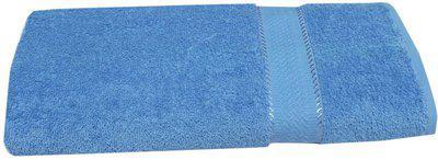 Mandhania Cotton 450 GSM Bath Towel(Blue)