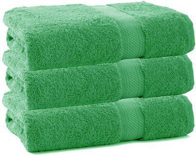 Juvenile Cotton 2000 GSM Bath, Hair, Sport Towel Set(Pack of 3, Green)