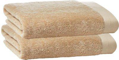 Juvenile Cotton 2400 GSM Bath Towel Set(Pack of 2, Beige)