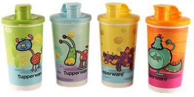 Tupperware Tupperware Willie N Friends Tumblers Set Of 4 330 ml Bottle(Pack of 4, Multicolor)