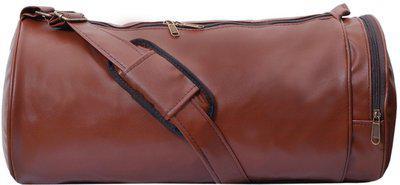Trend Shoe Pocket Brown Gym Bag(Brown)