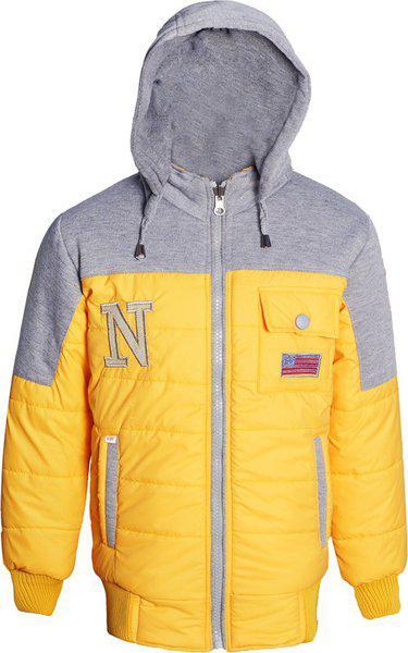Naughty Ninos Girl's Regular fit Jacket (NN00032JKT_Yellow_11-12 Years)