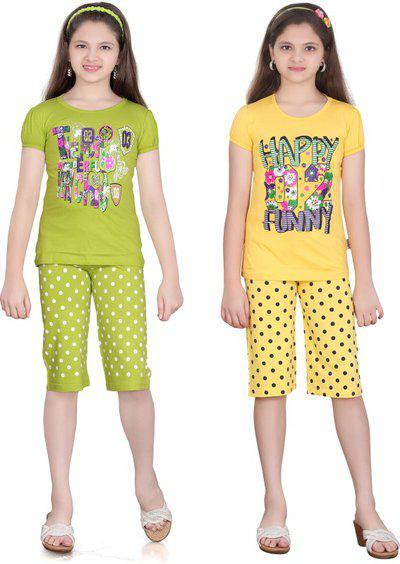 Sini Mini Girls Casual Pyjama Pyjama(Multicolor)