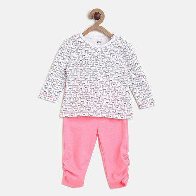 Mini Klub Baby Boys & Baby Girls Casual T-shirt Pant(Multicolor)