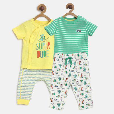 Mini Klub Baby Boys & Baby Girls Casual T-shirt Pant(Multicolor)