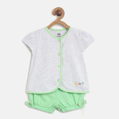 Mini Klub Baby Boys & Baby Girls Casual T-shirt Shorts(Multicolor)