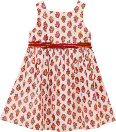 My Little Lambs Girls Midi/Knee Length Casual Dress(Multicolor, Sleeveless)