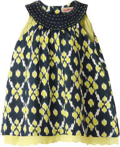 My Little Lambs Girls Midi/Knee Length Casual Dress(Black, Sleeveless)