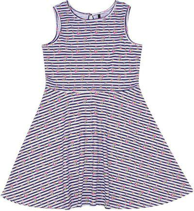 United Colors of Benetton Girls Casual Dress(White, Sleeveless)