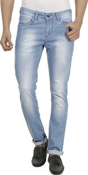 Fever Men's Slim Fit Jeans (211660-2-34_light Blue_34w X 33l)
