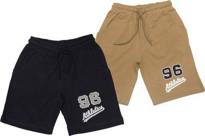 JusCubs Short For Boys Embriodered Cotton Blend(Multicolor, Pack of 2)