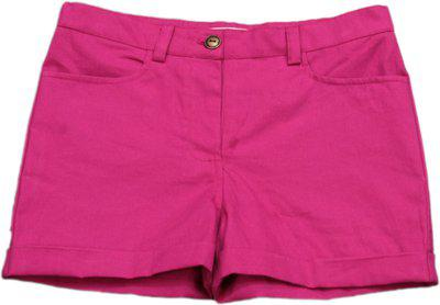 My Little Lambs Short For Girls Solid Cotton Linen Blend, Nylon Blend, Cotton Linen Blend(Pink, Pack of 1)