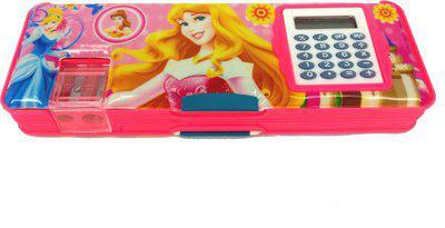Goyal Pink Princess Disney Princess Art Plastic Pencil Box(Set of 1, Pink)