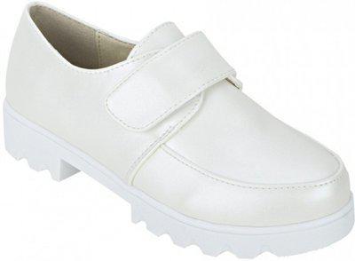 Joy N Fun Girls Velcro Casual Boots(White)