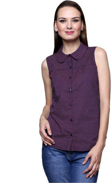 Trendsnu Women's Printed Casual Multicolor Shirt