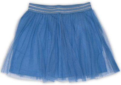 United Colors of Benetton Solid Girls Gathered Blue Skirt