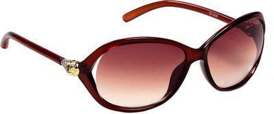 Ted Smith Oval Sunglasses(Brown)