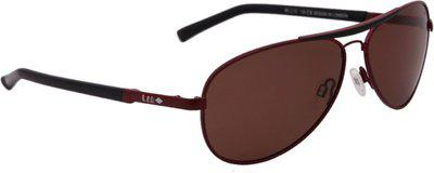Lee Cooper Aviator Sunglasses(Brown)