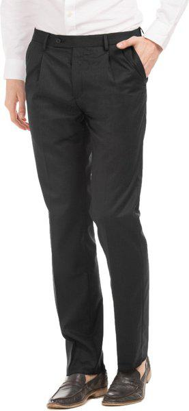 Arrow Men Solid Regular Fit Formal Trouser - Black