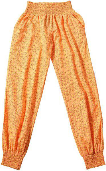 Tiddlywings Regular Fit Baby Girls Yellow Trousers