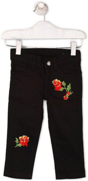 United Colors of Benetton Regular Baby Girls Black Jeans