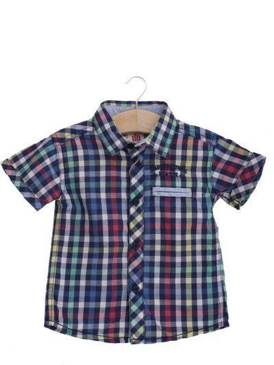 UFO Baby Boys & Baby Girls Self Design Casual Blue Shirt