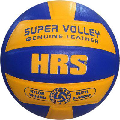 HRS Super Moulded Leather Volleyball for professional matches Volleyball - Size: 4(Pack of 1, Multicolor)