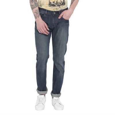 Fever Men Mid rise Regular fit Jeans - Blue