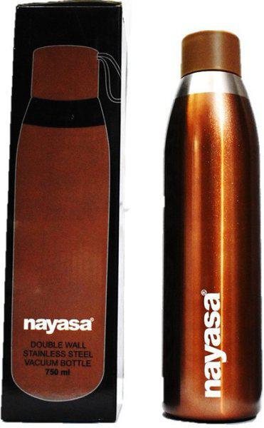 Nayasa SAPARA YOGA WATER BOTTLE BROWN 750ML 750 ml Bottle(Pack of 1, Brown)