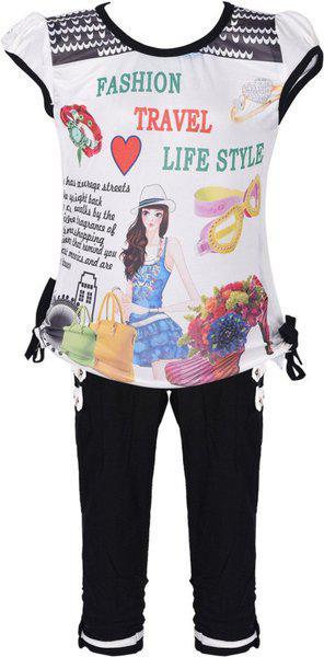 Wishkaro Girls Casual Top Pant(Multicolor)