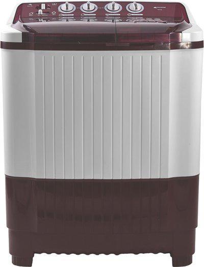 Micromax 8.2 kg Semi Automatic Top Load White, Maroon(MWMSA825TVRS1BR)