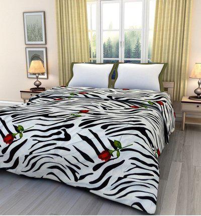 SUNJES Animal Double Blanket(Cotton, Multicolor)