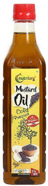 Nutriorg Mustard Oil 1000ml Mustard Oil Plastic Bottle(1000 ml)