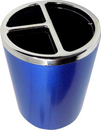 Confidence 1 Compartments Plastic Pen Stand(Black)