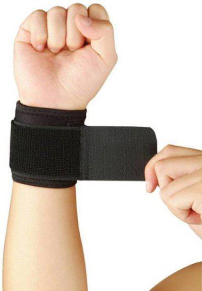 serveuttam Weight Lifting Wrist Support ( 1 piece ) Wrist Support(Black)