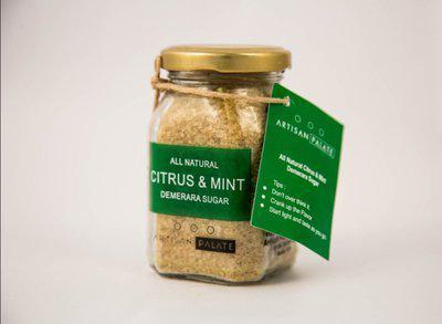 Artisan Palate All Natural Citrus & Mint Demerara Sugar Sugar(150 g)