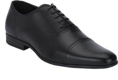 Red Tape Formal Leather Toecap Oxfords Lace Up For Men(Black)