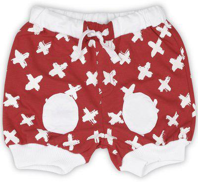Gini & Jony Short For Boys Casual Printed Cotton Blend(Red, Pack of 3)