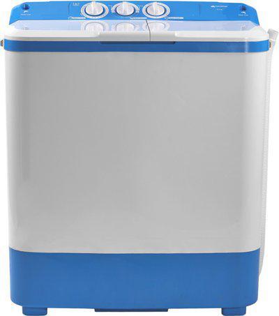 Micromax 6.5 kg Semi Automatic Top Load White, Blue(MWMSA651OVRS1BL)