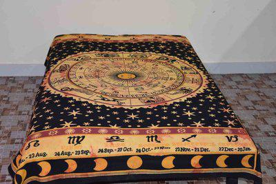 Healing Crystals India 104 TC Cotton Single Printed Bedsheet(Pack of 1, Multicolor)