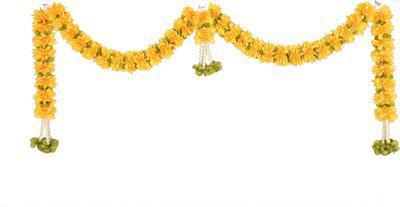 Daedal crafters Daedal crafters-DC266 Jasmamium doorset (Golden Golden Yellow) Toran(fabric)