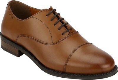 RED TAPE Formal Leather Toecap Lace Up For Men(Tan)