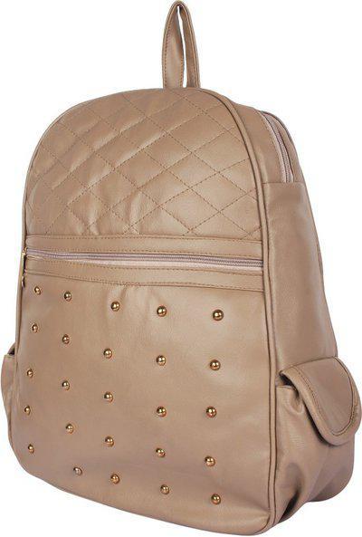 Rajni Fashion PU Leather Backpack School Bag Student Backpack Traval bag 6 L Backpack (Beige) 6 L Backpack(Beige)