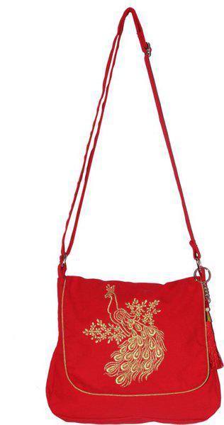 Bag Factory Red Sling Bag