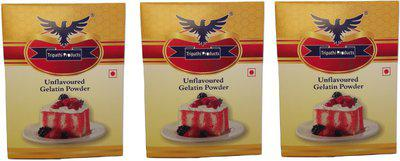 Tripathi Products Unflavoured Pack of 3 Gelatin Powder(300 g)