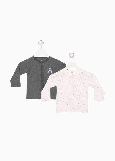 Mini Klub Baby Girls Cotton Blend Knit Top(Multicolor, Pack of 2)