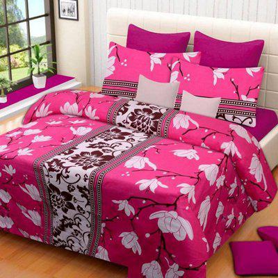 friends hub 160 TC Polycotton Double Floral Bedsheet(Pack of 1, Multicolor)