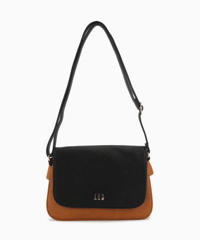 AND Women Tan, Black Sling Bag